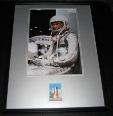 John Glenn Signed Framed 18x24 Photo Poster Display JSA