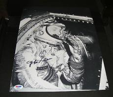 John Glenn Signed NASA Astronaut 11x14 Photo PSA/DNA