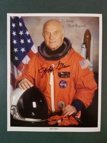 John Glenn-signed photo - JSA coa - 9