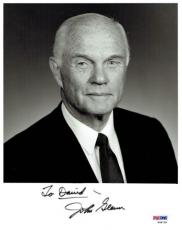 "John Glenn Signed ""To David"" Authentic Autographed 8x10 Photo PSA/DNA #W98728"