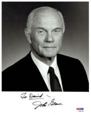 "John Glenn Signed ""To David"" Authentic Autographed 8x10 Photo PSA/DNA #W98728"