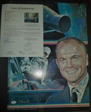 John Glenn Space Astronaut Signed Autographed 16x24 Poster Rare Jsa Loa #z03929