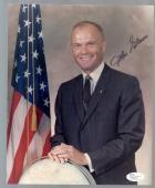 John Glenn Space Signature Auto Autograph Astronaut 8x10 Photo Jsa Authentic
