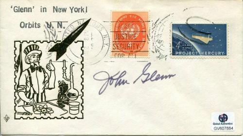 John Glenn US Senator NASA Mercury Astronaut Rare Signed Autograph FDC COA