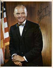 JOHN GLENN VINTAGE JSA COA HAND SIGNED 8x10 PHOTO AUTHENTICATED AUTOGRAPH