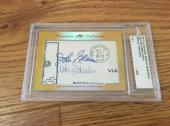 John Glenn Wally Schirra 2017 Leaf Masterpiece Cut Signature auto signed 1/1 JSA