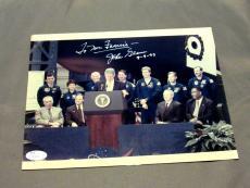 John Glenn With Bill Clinton Nasa Astronaut Mercury 6 Signed Auto 8x1o Jsa