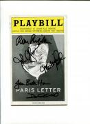 John Glover & Cast The Paris Letter Broadway Play Signed Autograph Playbill