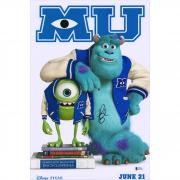 "John Goodman Monster University Autographed 12"" x 18"" Movie Poster - BAS"