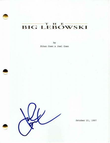 John Goodman Signed Autograph - The Big Lebowski Movie Script - Jeff Bridges