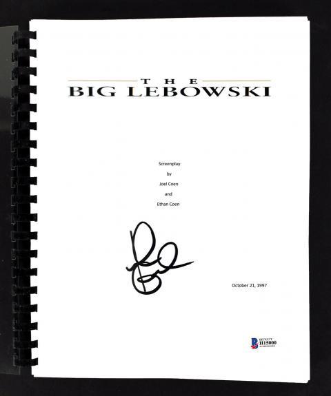 John Goodman Signed The Big Lebowski Movie Script BAS #H15000