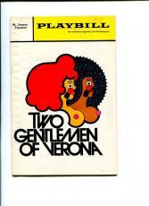 John Guare Bernard Gersten The Two Gentlemen of Verona Signed Autograph Playbill