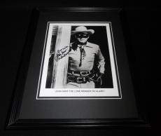 John Hart Signed Framed 8x10 Photo Lone Ranger Inscription
