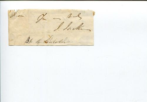 John Jackson Bishop Of Lincoln London Clergy Religious Signed Autograph