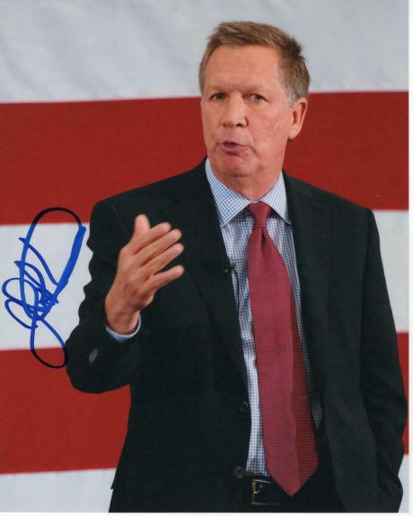 John Kasich Signed Autograph 8x10 Photo - Ohio Governor, 2020, Donald Trump