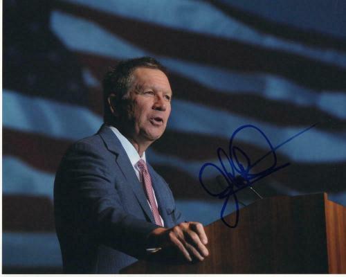 John Kasich Signed Autograph 8x10 Photo - Ohio Governor, 2020, Donald Trump