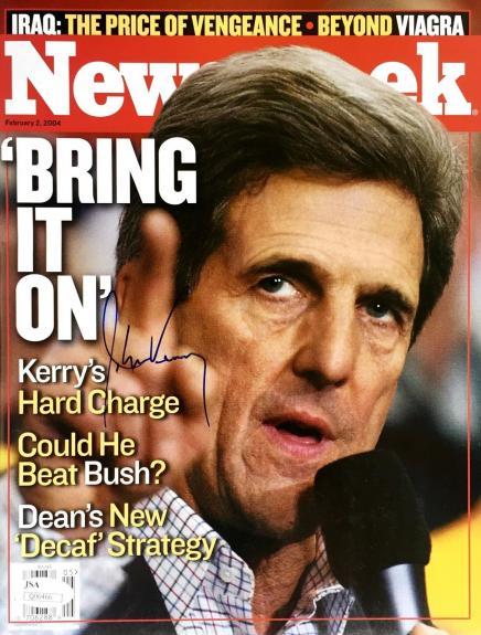 John Kerry (February 2nd 2004) Newsweek Signed NL Magazine JSA