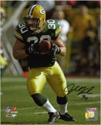 """John Kuhn Green Bay Packers Autographed 8"""" x 10"""" Action Photograph"""