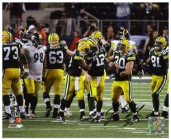 John Kuhn Green Bay Packers Super Bowl XLV Champions Autographed 8'' x 10'' Photograph - Mounted Memories