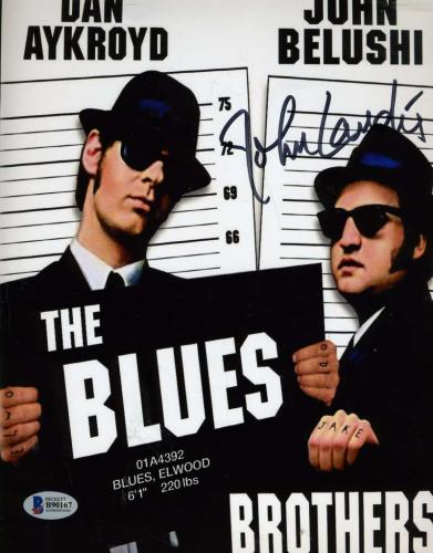 John Landis Blues Brothers Bas Beckett Coa Hand Signed 8x10 Photo Autograph