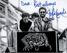 JOHN LANDIS HAND SIGNED 8x10 PHOTO+COA        WITH MICHAEL JACKSON    TO DAVE