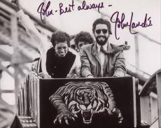 JOHN LANDIS HAND SIGNED 8x10 PHOTO+COA      WITH MICHAEL JACKSON       TO JOHN