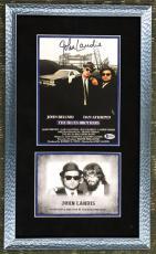 JOHN LANDIS ( The Blues Brothers) signed 8x10 custom framed display-BAS COA