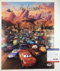 JOHN LASSETER SIGNED AUTOGRAPHED DISNEY PIXAR CARS MOVIE 11x14 PHOTO PSA/DNA COA