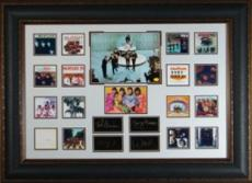 John Lennon- Beatles Engraved Collection 37x27 with Albums Premium Leather Framed Photo (entertainment)