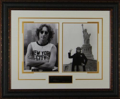 John Lennon Replica Autograph Framed PEACE Display