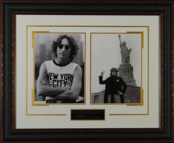 John Lennon Replica Autograph Framed PEACE Display