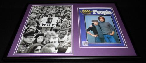 John Lennon Framed 12x18 People Magazine Memorial Cover Display The Beatles