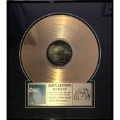 John Lennon Framed Limited-Edition 24-Karat Gold Plated 'Imagine' Record