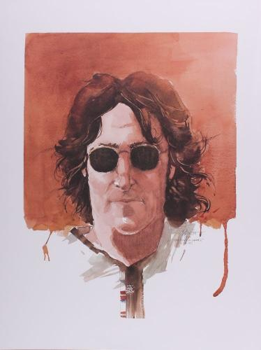 "JOHN LENNON ""GIVE PEACE A CHANCE"" 18x24 GICLEE ON PAPER BY ARTIST JOE PETRUCCIO"