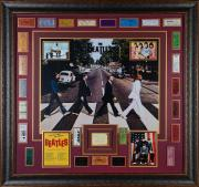 "John Lennon, Paul McCartney, George Harrison, & Ringo Starr Framed Autographed 48"" x 45"" Beatles Collage - PSA/DNA COA"