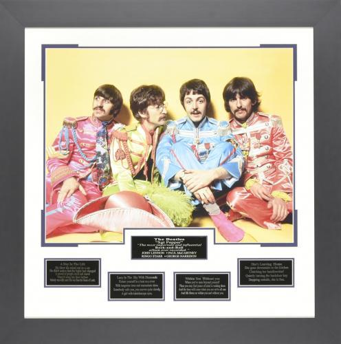 John Lennon, Paul McCartney, Ringo Starr, and George Harrison – Sgt. Pepper's Framed 22×28