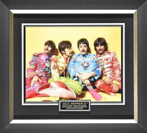 John Lennon, Paul McCartney, Ringo Starr, and George Harrison Framed 31×28