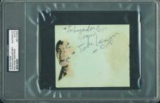 John Lennon & Paul Mccartney Signed 4x4.75 Album Page Psa/dna Slabbed