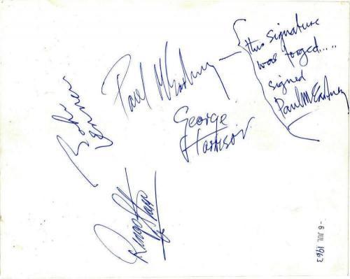 John Lennon Paul McCartney Signed Autographed 8x10 Photograph Beckett BAS