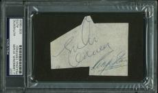 John Lennon & Ringo Starr Signed 2.75X3.5 Cut PSA/DNA Slabbed