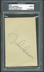 John Lennon Signed Autographed 3 x 5 Album Page PSA/DNA 9