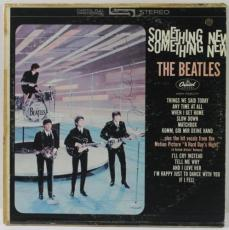 John Lennon Signed The Beatles Something New Album Cover Psa #v12378