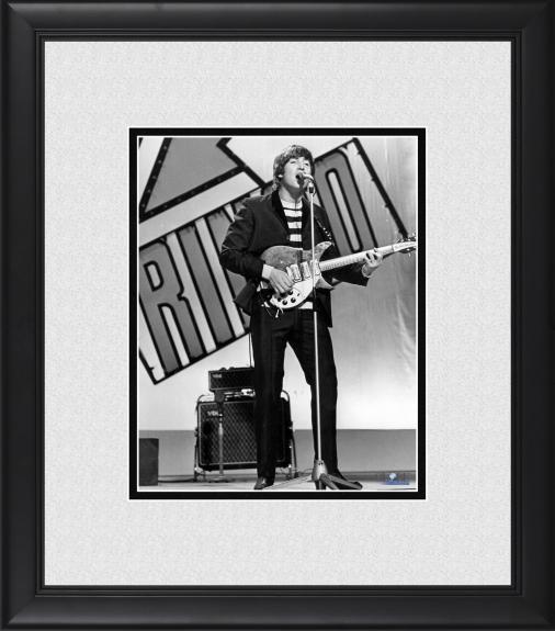 """John Lennon The Beatles Framed 8"""" x 10"""" Performing Photograph"""