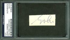 John Lennon The Beatles Signed 1x2 Cut Signature PSA/DNA Slabbed