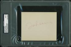 John Lennon The Beatles Signed 4X5 Album Page Graded Mint 9! PSA/DNA Slabbed