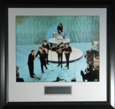 John Lennon unsigned Beatles 8x10 Photo Custom Framed Ed Sullivan Show (music/entertainment)