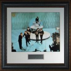 John Lennon unsigned The Beatles 16X20 Photo Leather Framed Ed Sullivan Show (entertainment)