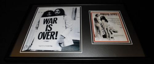 John Lennon Yoko Ono Framed 12x18 Rolling Stone Cover Display The Beatles