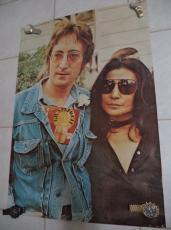 John Lennon & Yoko Ono Wagner Graphic 23x34 Original Poster 1980's Rare