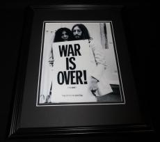 John Lennon Yoko Ono War is Over Framed 8x10 Photo Poster Beatles